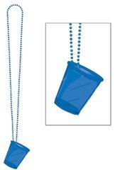 Blue Shot Glass Bead Necklace