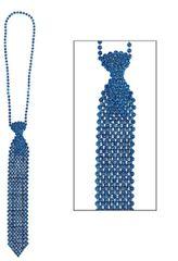 Blue Tie Bead Necklace