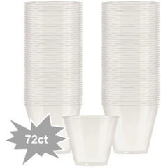 Big Party Pack Pearl White Plastic Cups, 9oz - 72ct