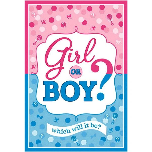 Girl or Boy Gender Reveal Invitations, 8ct