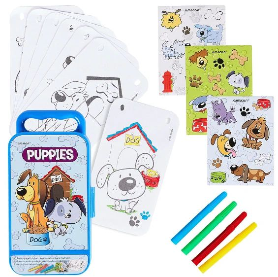 Puppies Sticker Activity Box