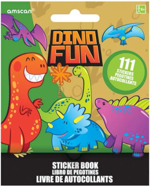 Dinosaurs Sticker Booklet, 111 Stickers