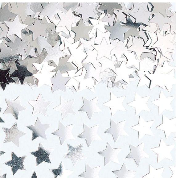 Silver Mini Stars Confetti