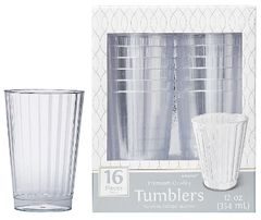 CLEAR Premium Quality Boxed Tumblers, 12oz - 16ct