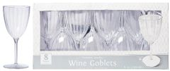 CLEAR Premium Quality Boxed Wine Goblets, 8oz - 8ct