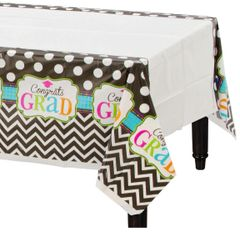 Dream Big Plastic Table Cover, 3ct