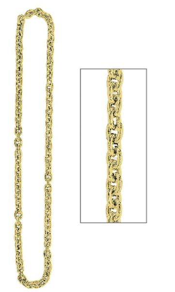 Gold Chain Link Necklace, 48""