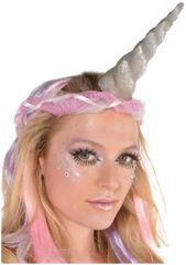 Glitter Silver Unicorn Horn