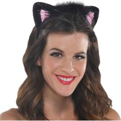 Pink & Black Cat Ears