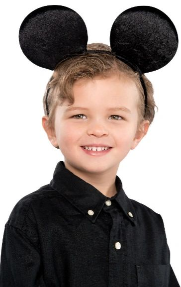 Child Mouse Ears Plush Headband