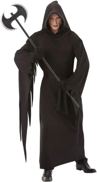 Adult Black Terror Robe - Adult Standard