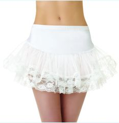 Adult White Lace Petticoat