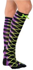 Laced Up Witch Knee High Socks
