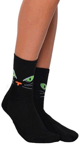 Cat Eyes Crew Socks