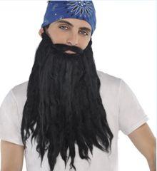Black Plush Beard/Mustache