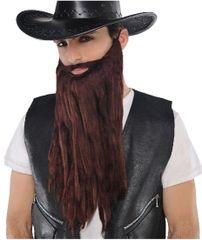 Brown Plush Beard/Moustache