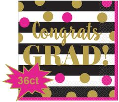 Gold Confetti Grad Lunch Napkins, 36ct