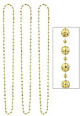 Gold Disco Necklace, 3ct