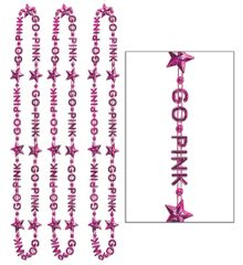 Go Pink Bead Necklaces, 3ct