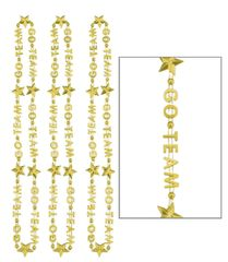 """Go Team"" Word Necklace - Gold, 3ct"