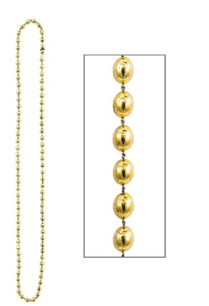 Let's Party Bead Necklace - Gold, 30""
