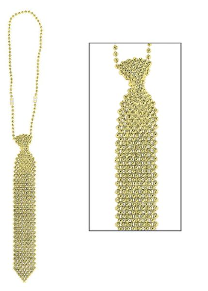 Gold Tie Necklace, 24""