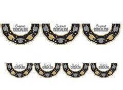 Black, Silver & Gold Grad Plastic Bunting, 11ft