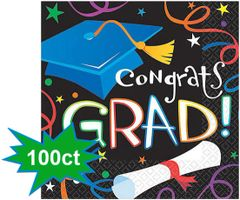 Grad Celebration Beverage Napkins, 100ct