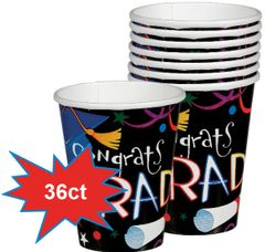Grad Celebration Cups, 9oz - 36ct