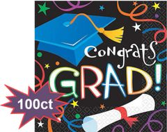 Grad Celebration Lunch Napkins, 100ct