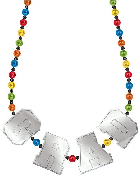 Grad Deluxe Bead Necklace, 36""