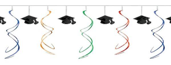 Multi Grad Foil Swirl Garland