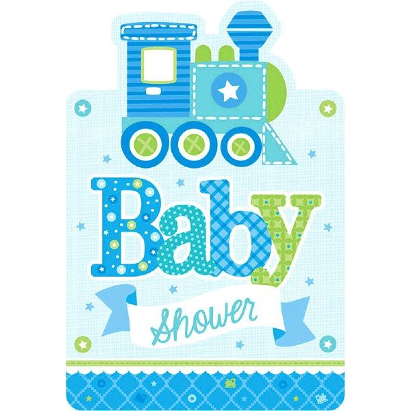 Welcome Baby Boy Baby Shower Invitations, 8ct