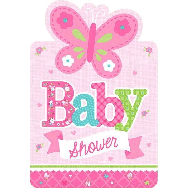 Welcome Baby Girl Baby Shower Invitations, 8ct