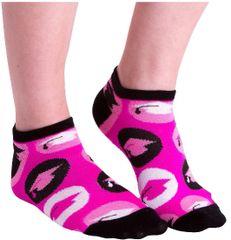 Pink & Black Graduation No Show Socks