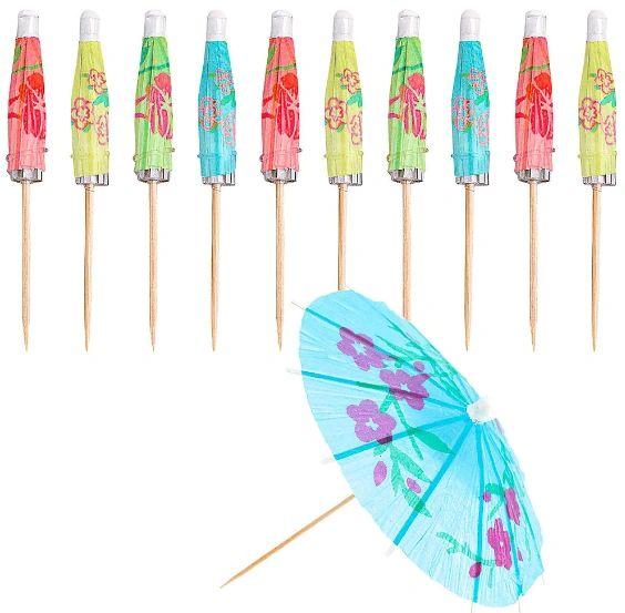 Jumbo Umbrella Parasol Picks, 24ct