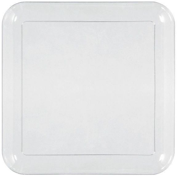 """Big Party Pack Plastic Square Lunch Plates, 8 1/2"""" - 24ct"""