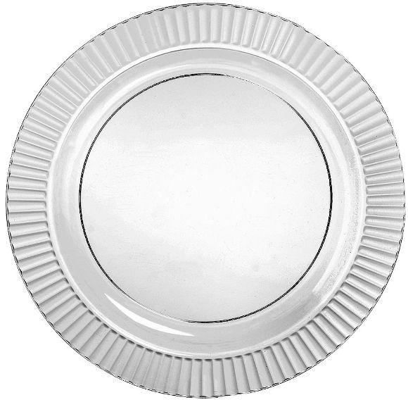 """Clear Premium Plastic Round Dinner Plates, 10 1/4"""" - 16ct"""