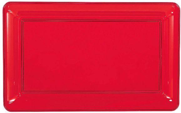 Red Plastic Rectangular Platter