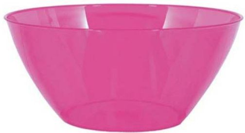 Large Bright Pink Plastic Bowl, 5qt