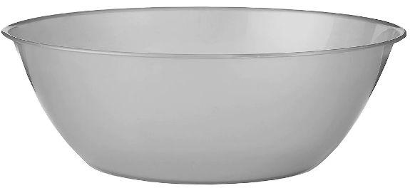 Silver Plastic Serving Bowl, 10qt