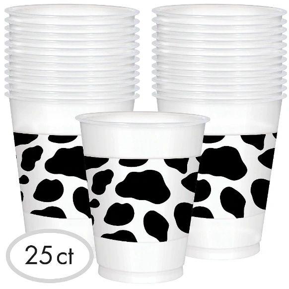 Western Printed Plastic Cups, 16oz - 25ct