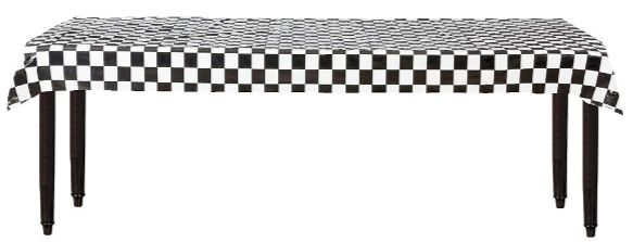 """Checkerboard Printed Plastic Table Roll, 40"""" x 100'"""