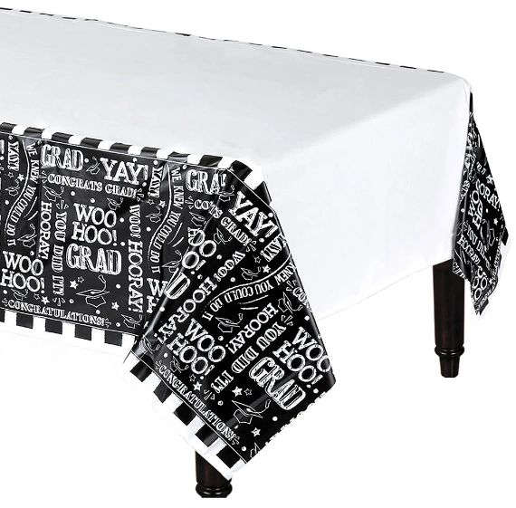 Hooray Grad Plastic Table Cover