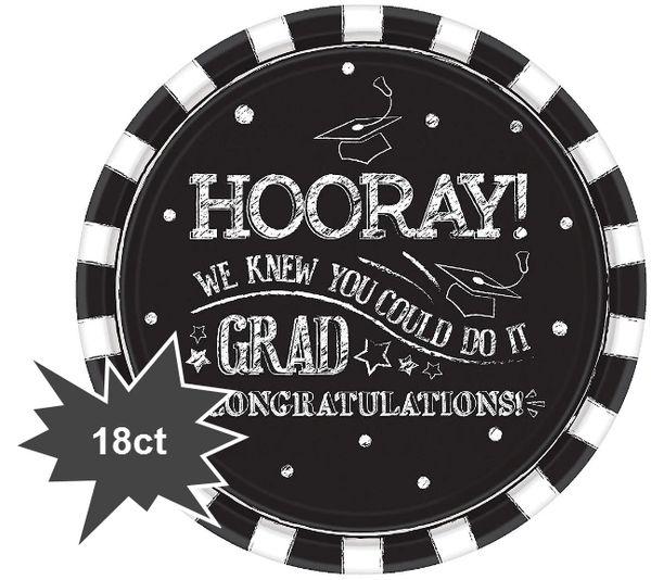 """Hooray Grad Dinner Plates, 10 1/2"""" - 18ct"""