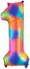 """34"""" Rainbow Splash #1 Foil Balloon"""