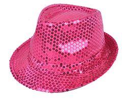 Hot Pink Sequin Fedora