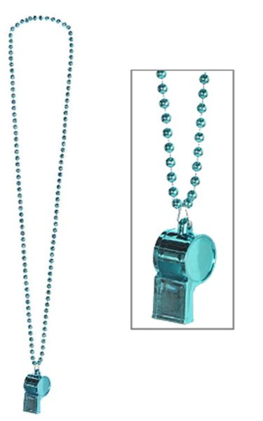 Light Blue Whistle Necklace