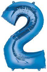 "34"" Blue #2 Mylar Balloon"