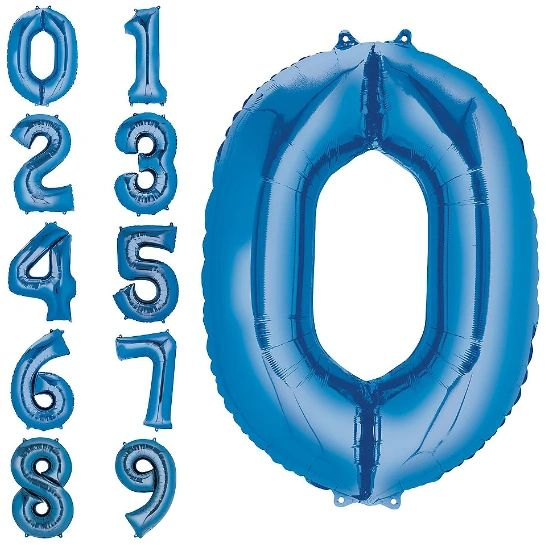 """34"""" Number Balloons - Blue"""